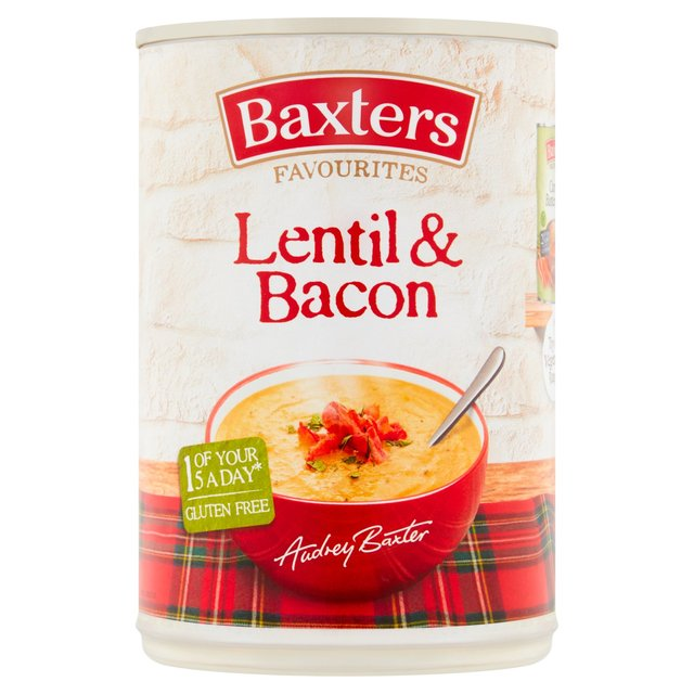 Baxters Favourites Lentil & Bacon Soup 400g from Ocado