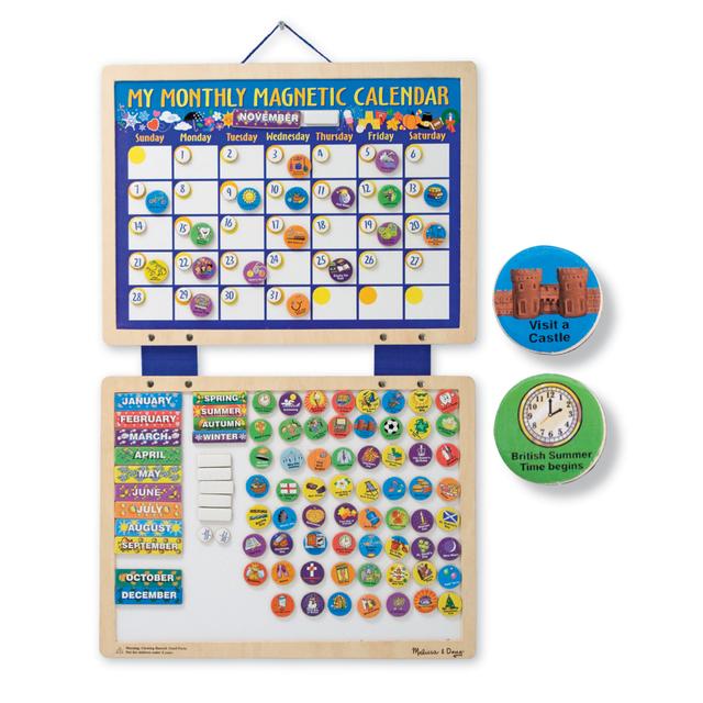 Weekly Calendar Magnet : Melissa doug my monthly magnetic calendar yrs from ocado