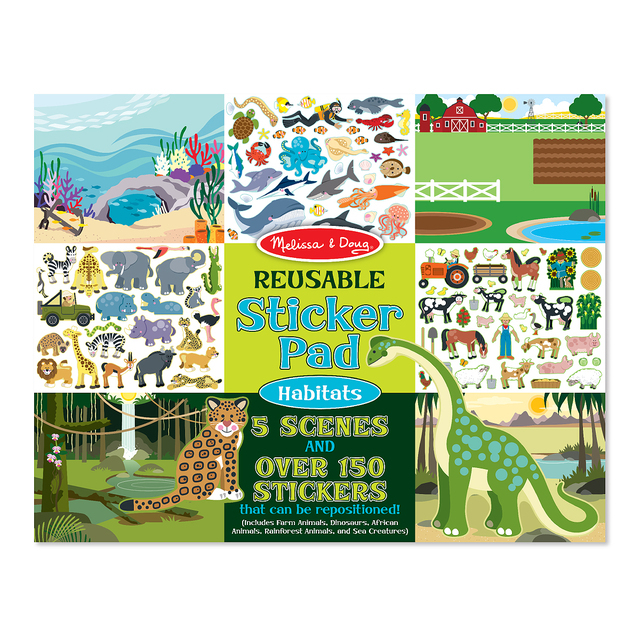 Melissa & Doug Reusable Sticker Pad Habitats, 3yrs+