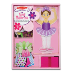 Melissa & Doug Nina Ballerina Magnetic Wooden Dress-Up Doll 3+
