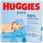 Huggies Pure Baby Wipes Big Pack