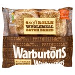 Warburtons Wholemeal Baked Rolls