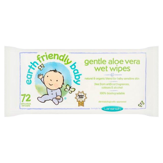 f5fb0c4fcc5 Earth Friendly Baby Gentle Aloe Vera Wet Wipes 72 per pack from Ocado