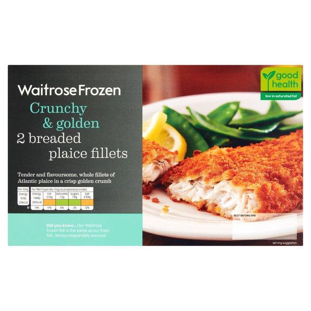 Waitrose 2 frozen breaded plaice fillets 280g from ocado for Best frozen fish to buy at grocery store