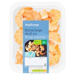 Waitrose Extra Large Shell-on King Prawns