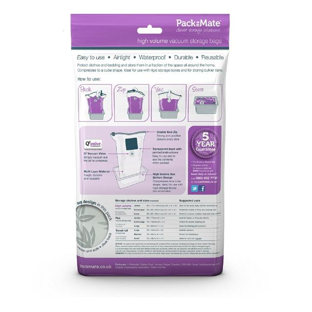 Packmate Volume Vacuum Storage Bag Extra Large