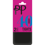 Pretty Polly 40 Denier Opaque Tights Black