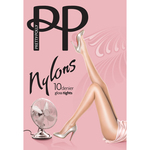 Pretty Polly 10 Denier Nylon Gloss Tights, Natural Sherry
