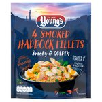Young's 4 Smoked Haddock Fillets Frozen