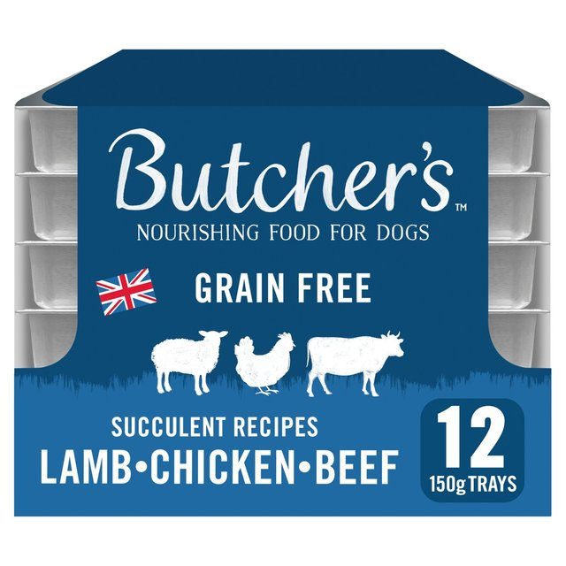 Butcher S Succulent Recipes Dog Food Trays 12 X 150g From Ocado