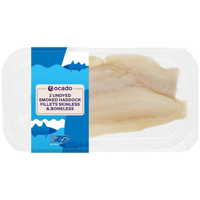 Ocado Gold Undyed Smoked Haddock Fillets Skinless & Boneless
