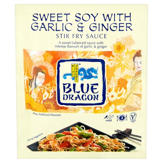 Blue Dragon Sweet Soy with Garlic & Ginger Stir Fry Sauce 120g from ...