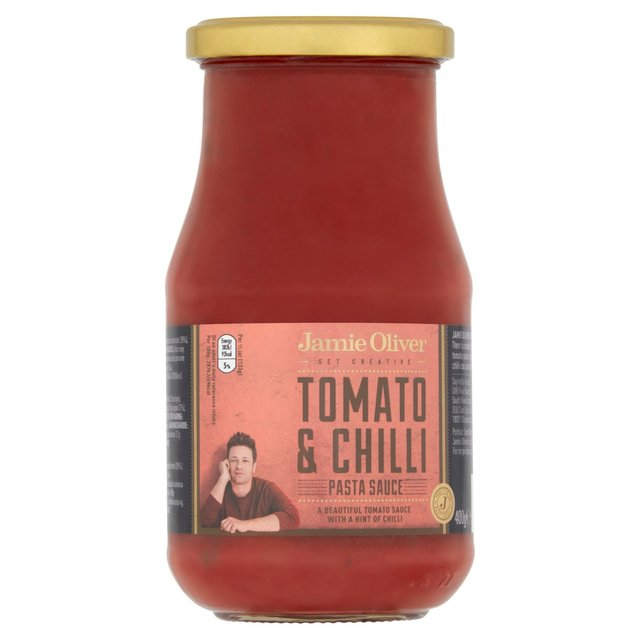 jamie oliver tomato chilli pasta sauce 400g from ocado. Black Bedroom Furniture Sets. Home Design Ideas