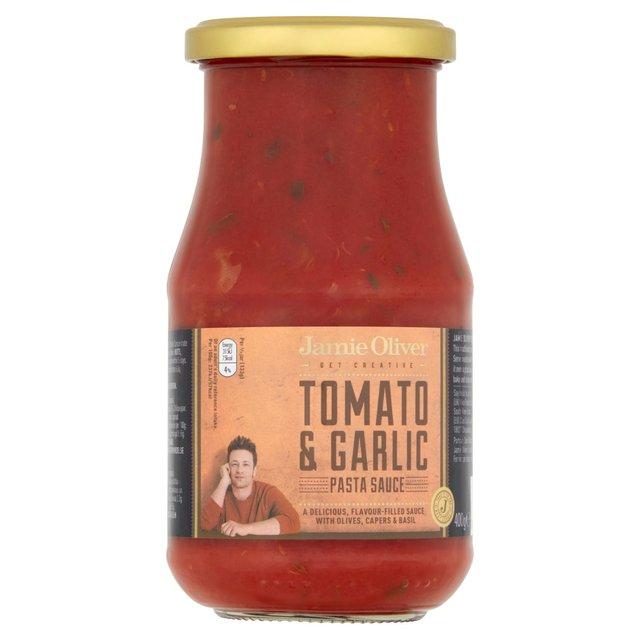 jamie oliver tomato olive garlic pasta sauce 400g from ocado. Black Bedroom Furniture Sets. Home Design Ideas