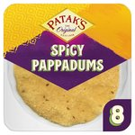 Patak's 8 Spicy Ready To Eat Pappadums