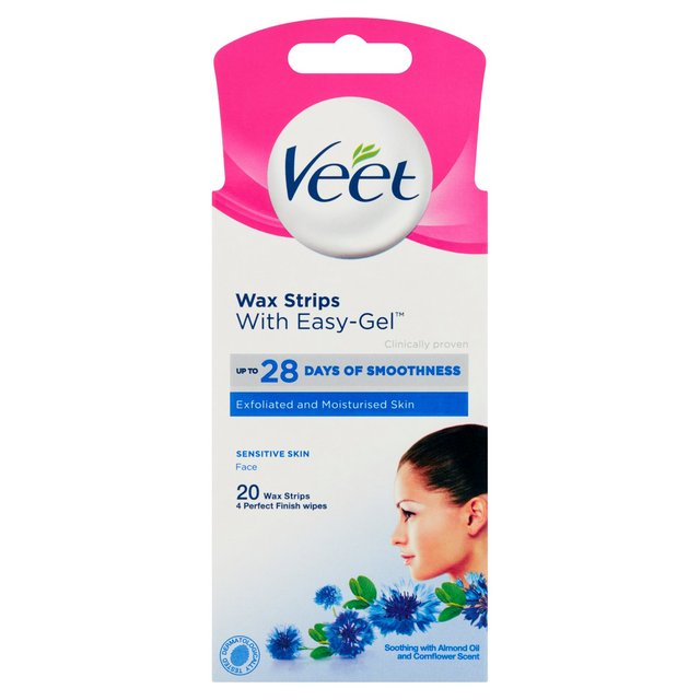 Veet Cold Wax Strips For Face Sensitive Skin Ocado