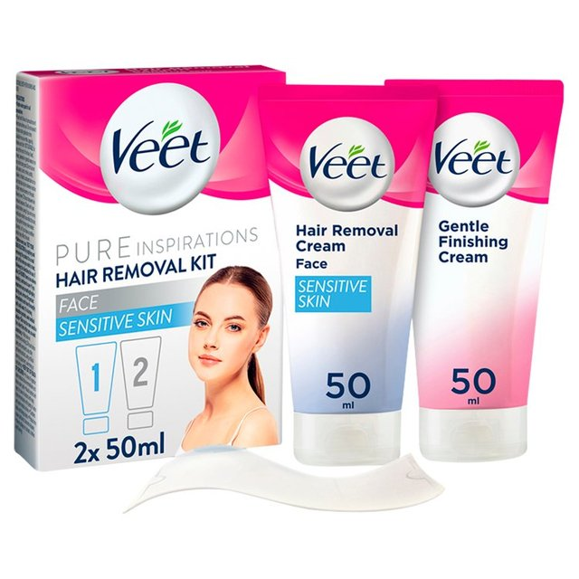 how to use hair removal cream on face