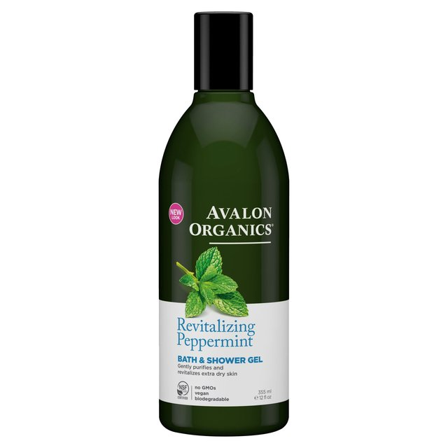 Avalon Organic Peppermint Bath & Shower Gel, Vegan