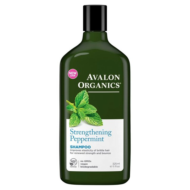 Avalon Organic Peppermint Strengthening Shampoo, Vegan