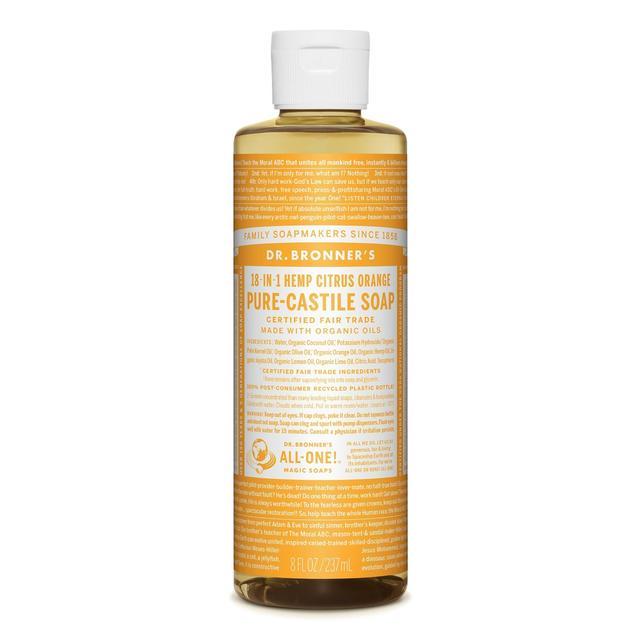 dr bronner organic citrus castile liquid soap 237ml from ocado. Black Bedroom Furniture Sets. Home Design Ideas