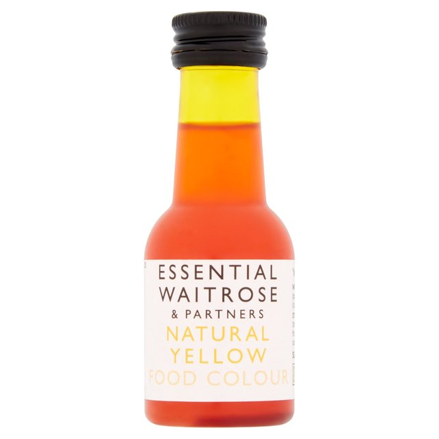 Essential Waitrose Natural Yellow Food Colouring 38ml from Ocado