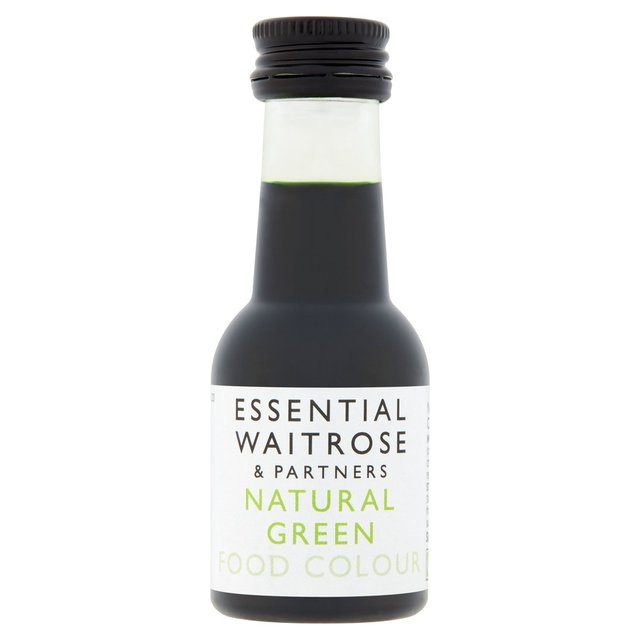 Essential Waitrose Natural Green Food Colouring 38ml from Ocado