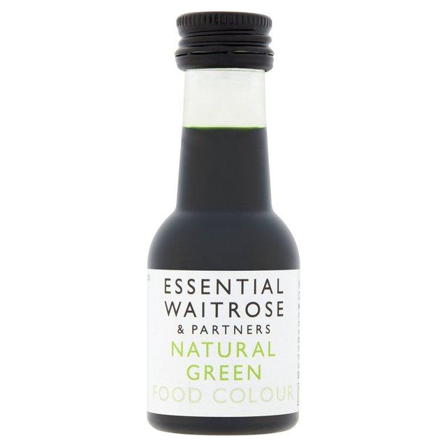 Essential Waitrose Natural Green Food Colouring | Ocado