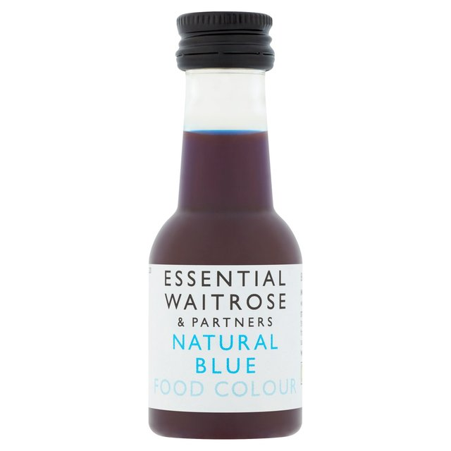 Essential Waitrose Natural Blue Food Colouring 38ml from Ocado