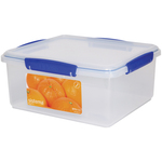 Sistema Klip It Rectangular Plastic Container 5L, Blue