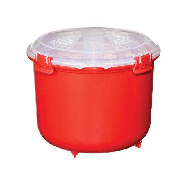 sistema plastic microwave rice steamer 2 6l red from ocado. Black Bedroom Furniture Sets. Home Design Ideas