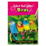 Colour and Learn Birds 6 Years + Book