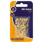 Korbond Gilt Safety Pins