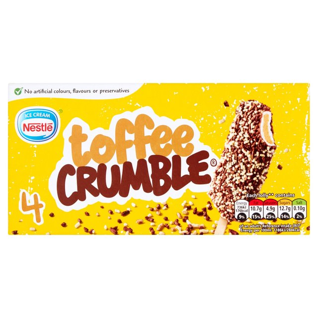 Nestle Toffee Crumble Lolly Ocado