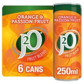J2O Orange & Passion Fruit Fridge Pack
