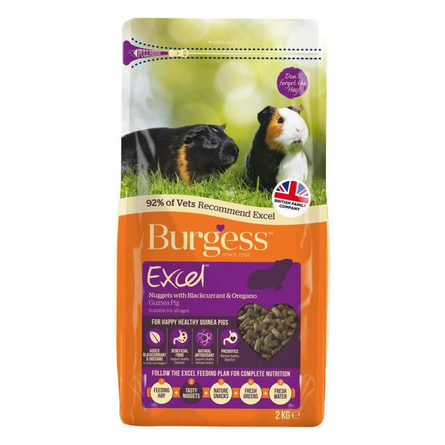 Burgess Excel- Guinea Pig Food with Blackcurrant And Oregano