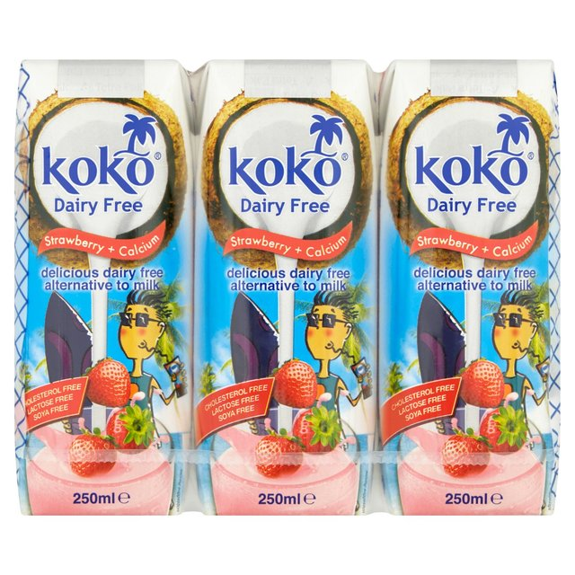 Koko Dairy Free Strawberry + Calcium Long Life Milk Alternative UHT