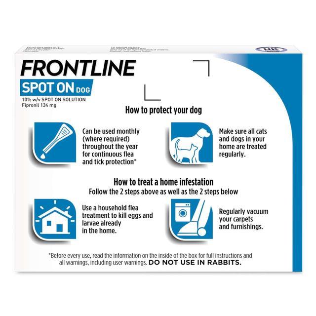 Frontline Spot On For Dogs 10 20kg 6 Per Pack From Ocado
