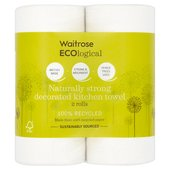 Waitrose ECOlogical Decorated Kitchen Towels Recycled