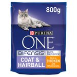 Purina ONE Cat Coat & Hairball Chicken & Whole Grains