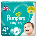 Pampers Baby Dry Nappies Size 4+ Essential Pack