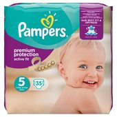 Pampers Active Fit Nappies Size 5 Essential Pack