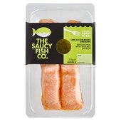 Saucy Fish Co. 2 Steamed Salmon Fillets with Lime & Coriander Dressing