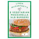 Linda McCartney 2 Mozzarella Burgers Frozen