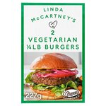 Linda McCartney 2 Vegetarian Quarter Pounders Frozen