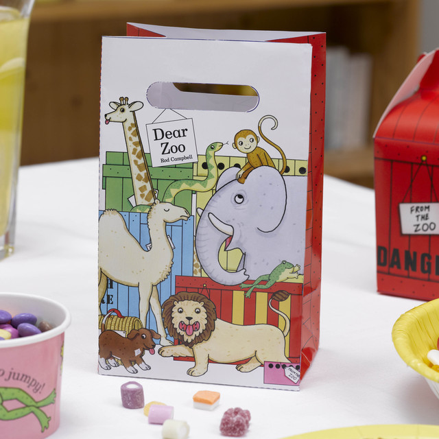 dear zoo animals party bags 5 per pack from ocado