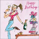 Quentin Blake Wine Birthday Card