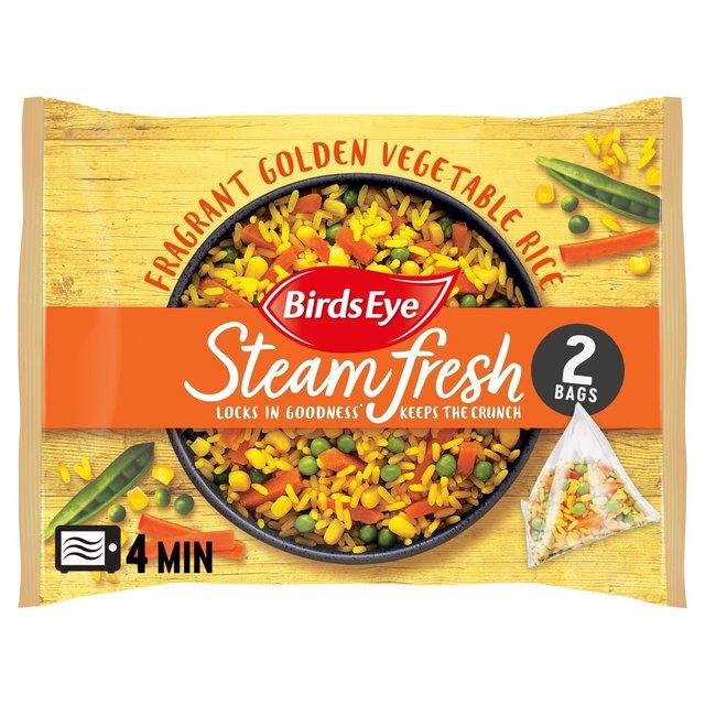 Birds Eye Steamfresh 2 Rice Golden Vegetable Frozen