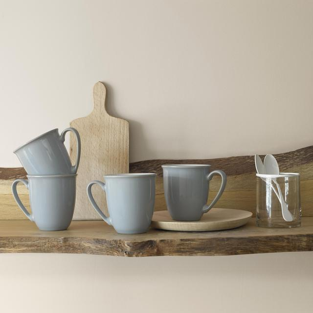 Denby Everyday Stoneware Mug Set, Cool Blue 4 per pack from Ocado