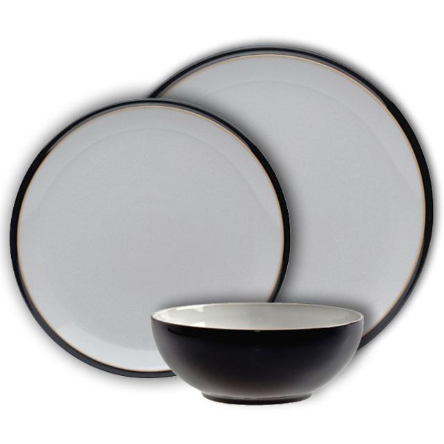 Denby Everyday Stoneware Dinnerset Black ...  sc 1 st  Ocado & Denby Everyday Stoneware Dinnerset Black 12 per pack from Ocado