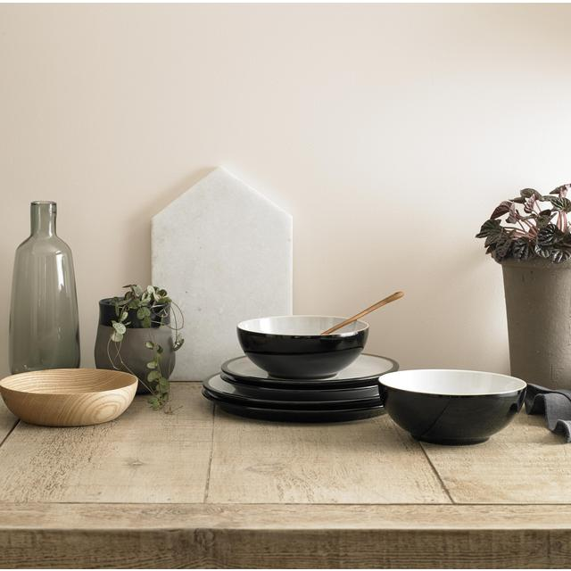 ... Denby Everyday Stoneware Dinnerset Black ... & Denby Everyday Stoneware Dinnerset Black 12 per pack from Ocado